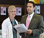 Nurse practitioner Shelly Brock and Dr. Alvaro Moreno-Aspitia.