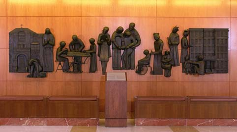 Forever Caring sculpture honoring Mayo Nursing: Past, Present, and Future
