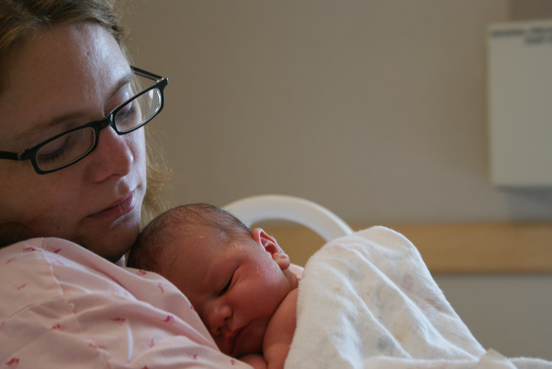 Mary holding baby David