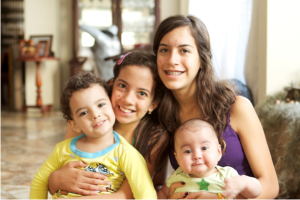 Daniela with her brothers and sister.