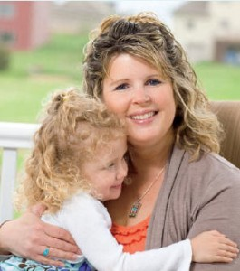 Amy Brase and her daughter