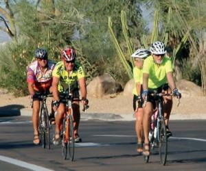 Ricky Rinehart riding his bike