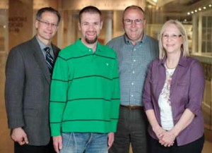 David Vannausdle, his parents and Dr. Reeves