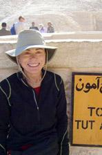 Earlene Taylor in Egypt.