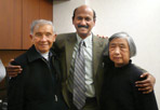Ning Chien with her husband and Dr. Vege
