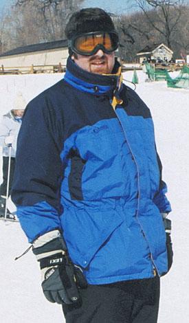 Sean Murphy on the ski slopes