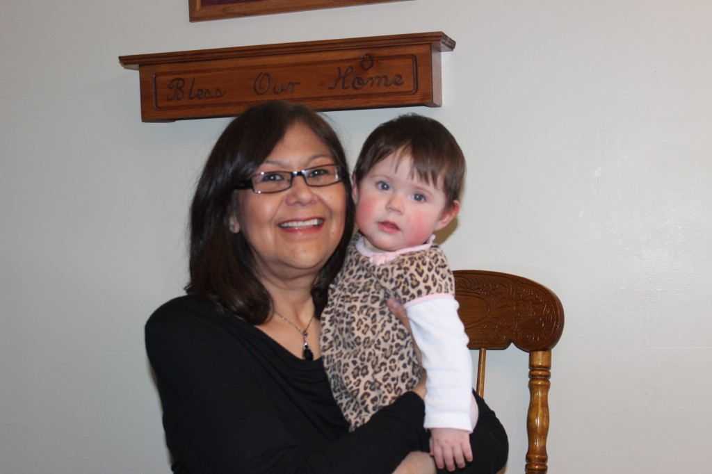 Ruth Smith and granddaughter