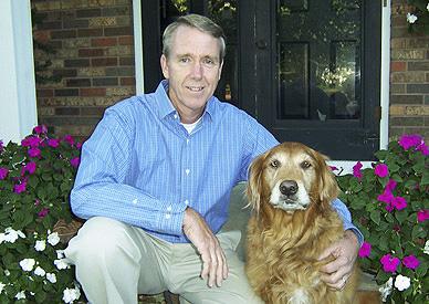 Tom Sherrard and his dog.