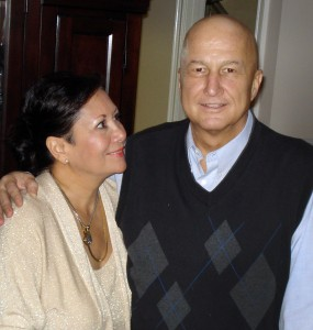 Ron Wilson with his wife Miriam, 5 weeks post transplant