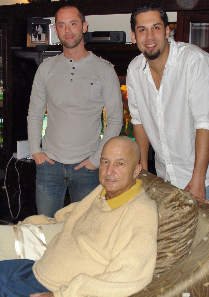 Ron Wilson with his sons Jerry and Dan during the holidays