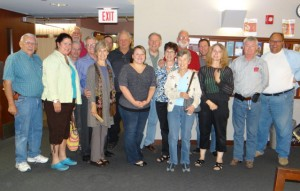 Jim and family and friends upon completion of his radiation on bell-ringing day