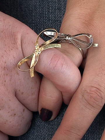 Amber and Sabrina's bow-tie rings