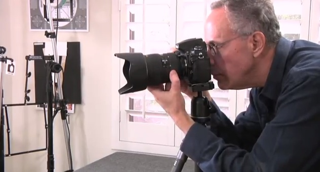 Richard Rubinstein in his photography studio