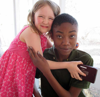 Deshawn Corbin with his sister, Emma.