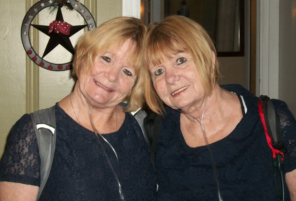 Linda Foster (left) and Brenda Santinelli (right), 60-year-old twin sisters from Pensacola, Fla and patients of Mayo Clinic in Florida.