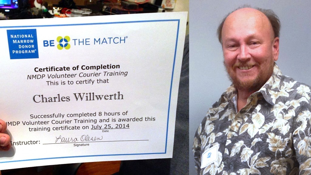 Charlie Willwerth, a 61 year-old leukemia survivor and bone marrow transplant recipient from St. Augustine, Fla. is taking the necessary steps to help bring life-saving stems cells to others in need of a bone marrow transplant.