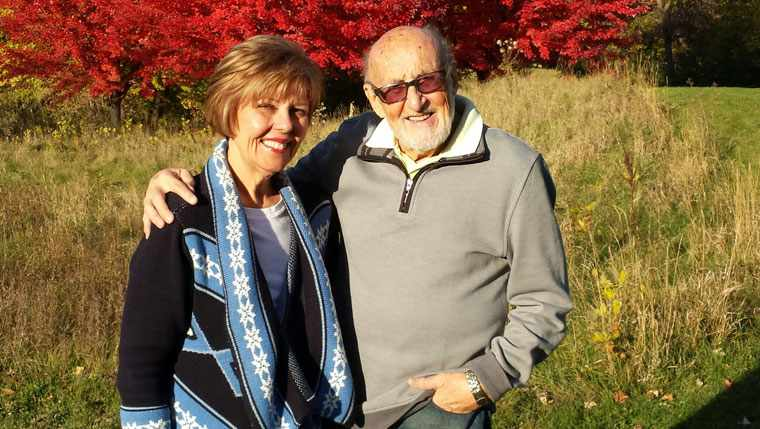 Harold and Judy Magy enjoying a fall day in Minnesota.