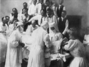 Alice Magaw participates in a surgery at Saint Marys Hospital