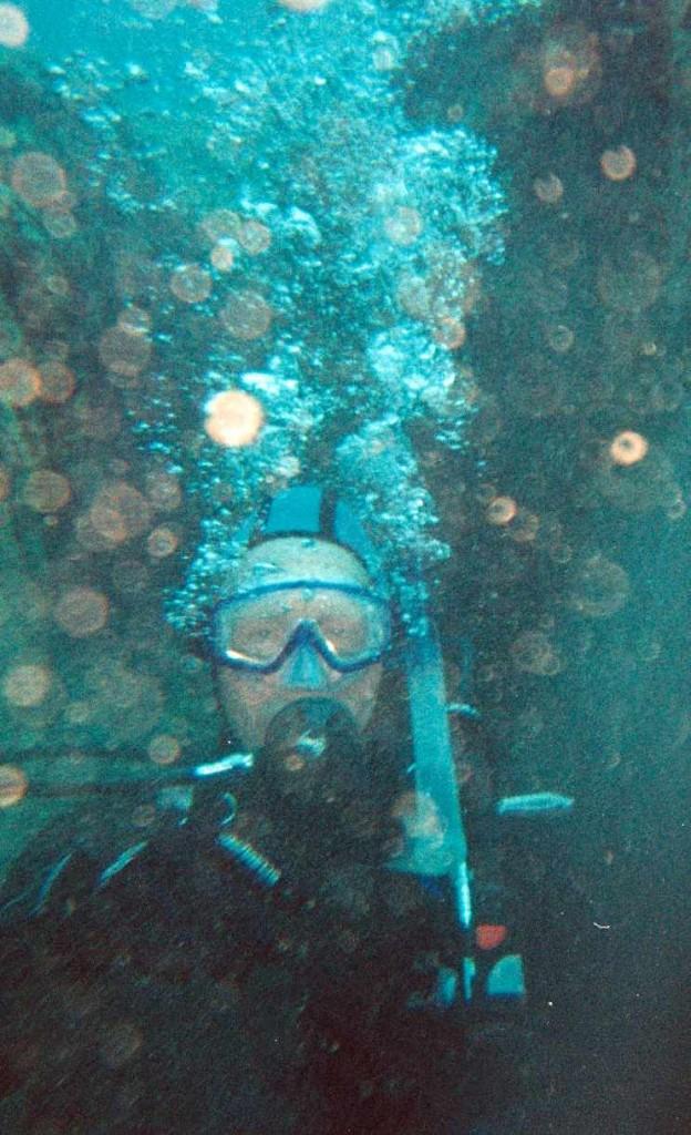 Kim Dobson, 63, of Oveido, Florida, scuba diving