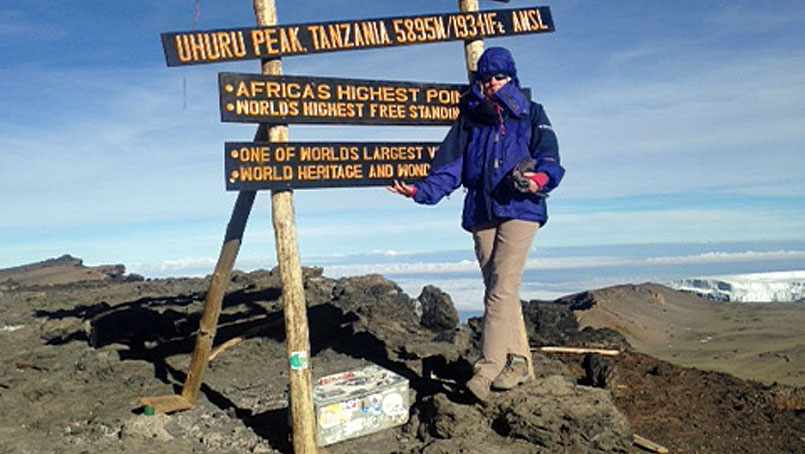 Kate Seifert send her neurologist a photo from Kilimanjaro to show him that she'd gotten her life back.