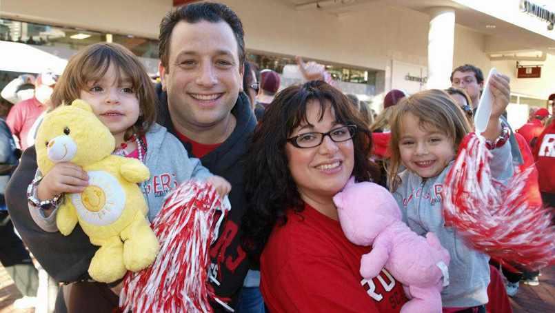 Scott Borden enjoying time with his family.