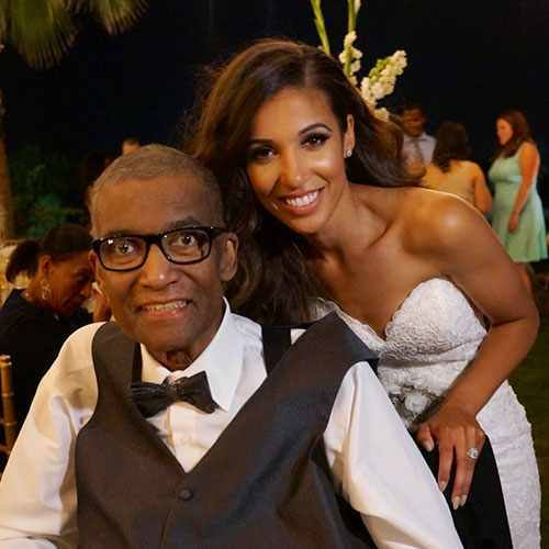 Andre Pearson with his daughter, Alexandra Price.