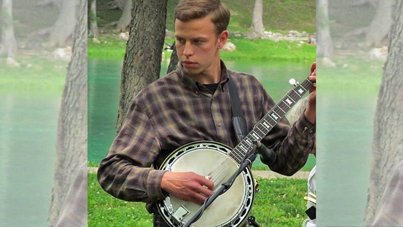Karl Weissig enjoying music and nature.
