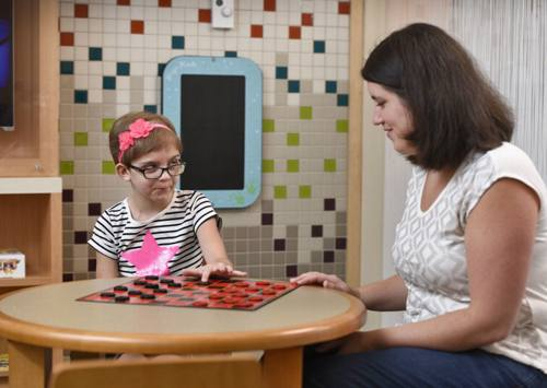 Evie and Ali McLeish at Mayo Clinic's Proton Beam Therapy Center.