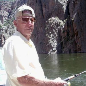 Charles Metzler fishing after surgery.