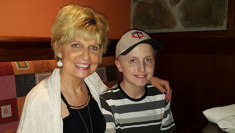 Diagnosed with a stage-four brain tumor, 13-year-old Connor Johnson is taking his treatment at Mayo Clinic in stride and looking forward to a future of helping others.