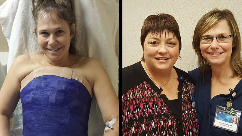 After receiving treatment for two serious falls and going through a surgery, nurse Jackie Traurig has a heightened appreciation for the health care Mayo Clinic provides.