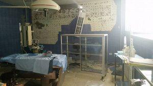The earthquake damaged the San Lucas Foundation clinic.