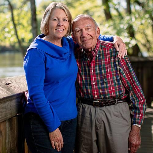 Bob Hamme with his daughter, Lori Beale.