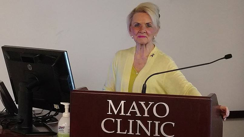 Esophageal cancer can be deadly if it's not caught early. Fortunately for Mary Helen Duggar, her Mayo Clinic doctors found her cancer when it could still be treated. Today she's working to help others learn more about the disease.