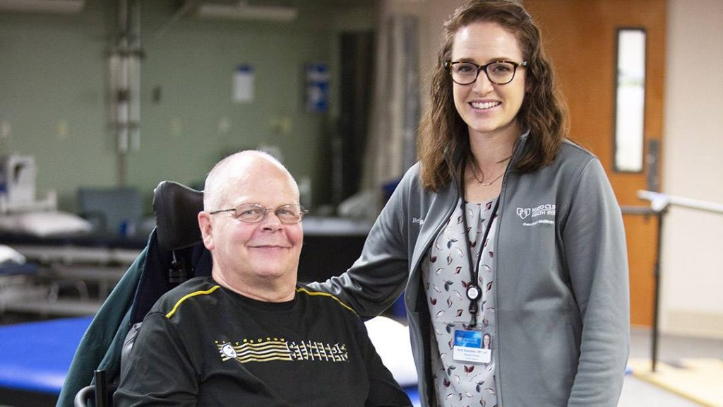 How a person feels mentally and emotionally can make a big difference in the course of physical therapy. For Carl Hohman, the bond he's formed with his rehabilitation team helps keep his spirits high.